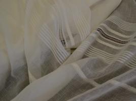 Tecido cortinas alinhaddo bordado